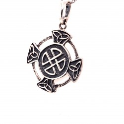 Přívěsek  stříbrný  - Keltský kříž v kruhu