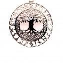 Přívěsek  stříbrný  - Strom života runy
