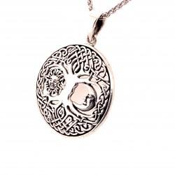 Přívěsek  stříbrný  - Strom života slunce měsíc