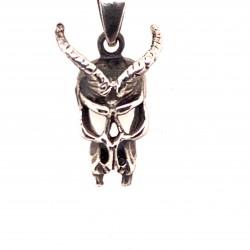 Přívěsek  stříbrný  - Lebka Ďábel