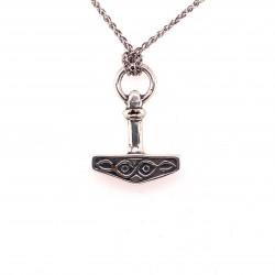 Přívěsek  stříbrný  - Thorovo kladivo kroužek