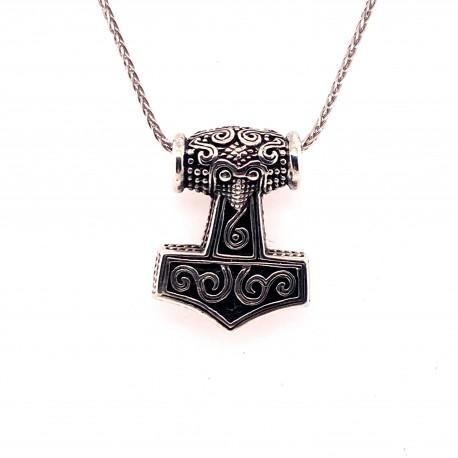 Přívěsek  stříbrný  - Thorovo kladivo sova