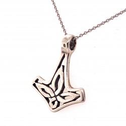 Přívěsek  stříbrný  - Thorovo kladivo kyvadlo