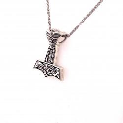 Přívěsek  stříbrný  - Thorovo kladivo keltské uzly