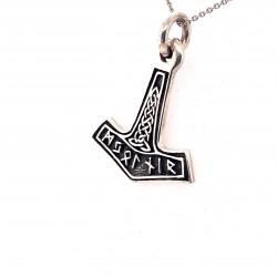 Přívěsek  stříbrný  - Thorovo kladivo runové písmo