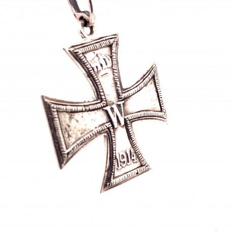 Přívěsek  stříbrný  - Kříž Císař Vilém kopie vyznamenání