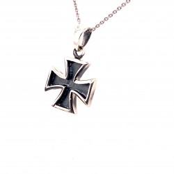 Přívěsek  stříbrný  - Maltézský kříž