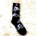 Moto ponožky -  černé - motorka 1