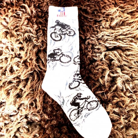 Moto ponožky - bílé- motorka