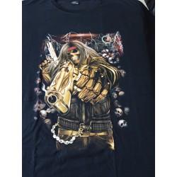 T-shirts 10 xl lebka pistolník