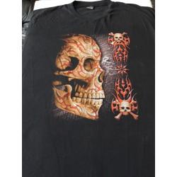 T-shirts 10 xl - Lebka červený ornament