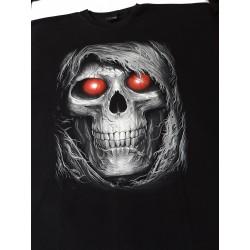 T-shirts 8 xl  - Lebka červené oči