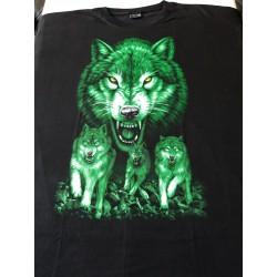 Triko 6 xl zelení vlci