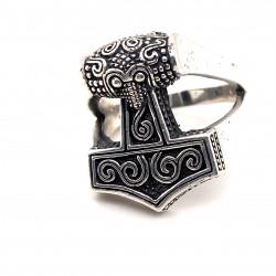 Prsten stříbrný - Thorovo kladivo