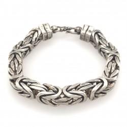 Náramek  stříbrný  - Královský vzor hranatý 9