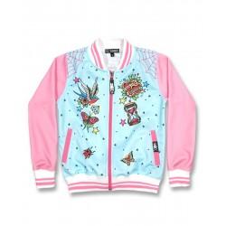 Dětské mikiny Six Bunnies - růžové - modrá motýlci