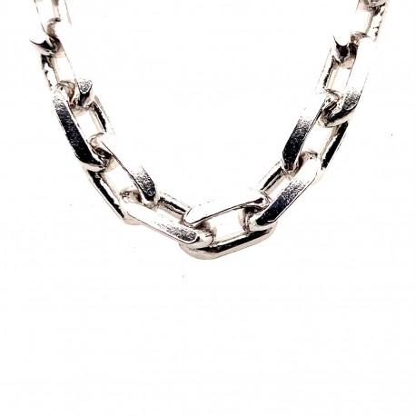 Řetízek stříbrný - Rhodium anker silný
