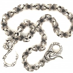 Řetízek -Klíčenka stříbrná -drápky