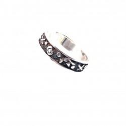 Prsten stříbrný - Kruh piktogram