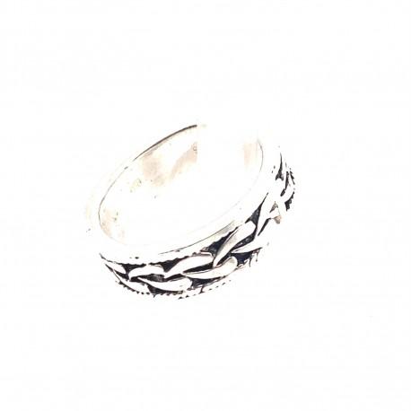 Prsten stříbrný -  Kruh ornament splétaný