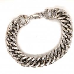 Náramek  stříbrný  - rombo duté rhodiované