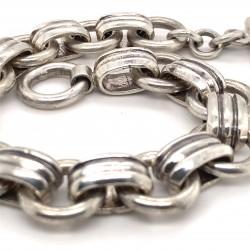 Náramek  stříbrný  - očka pásky