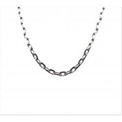 Řetízek stříbrný - Rhodium anker
