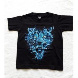 Tričko dětské - Modrý vlk