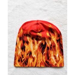 Čepice - červená plameny