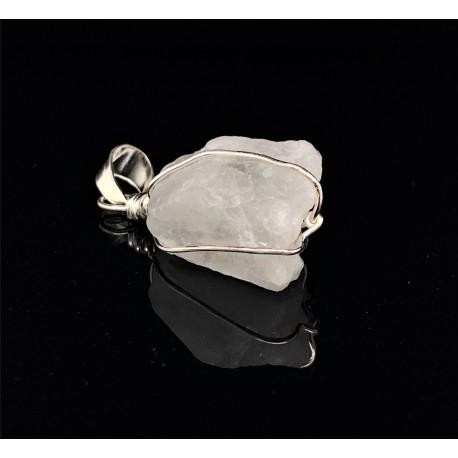 Přívěsek  stříbrný  - Měsíční kámen druzda