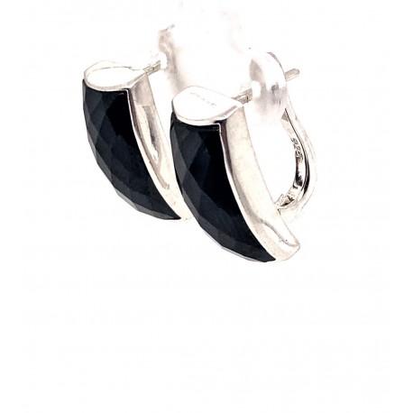 Náušnice stříbrné - Onyx broušený