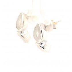 Náušnice stříbrné - Kapky měsíční kámen