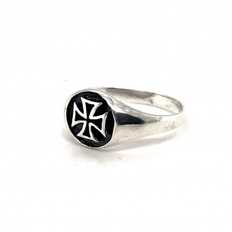 Prsten stříbrný - Maltézský kříž malý