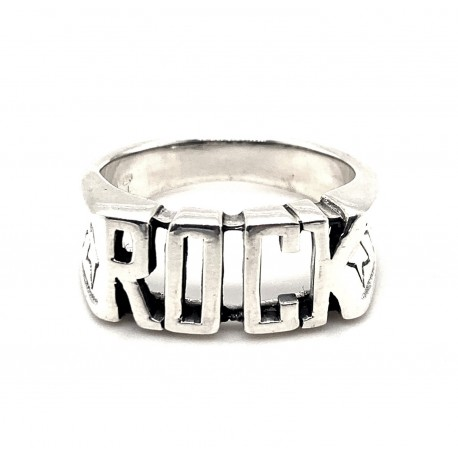 Prsten stříbrný - Rock