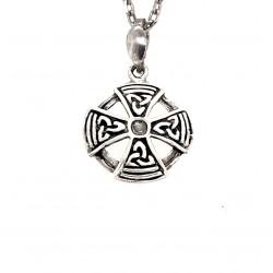 Náušnice stříbrné  - Keltský kříž přívěsek