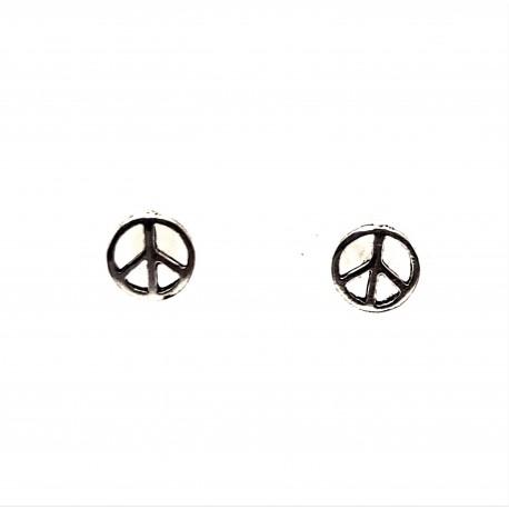 Náušnice stříbrné  - Hippie