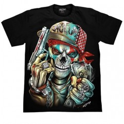 T-shirts  L  - Lebka  peníze a pistole