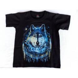 Tričko-dětské-indiánský vlk