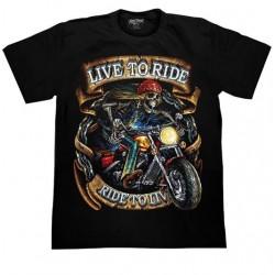 T Shirts M - Smrťák  Live to ride