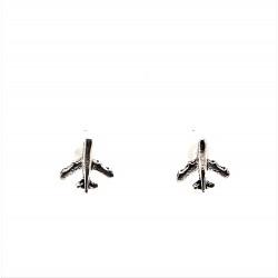 Náušnice stříbrné - pecky letadlo proudové