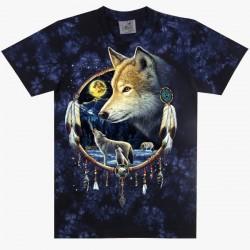 T-shirts XXL - Indiánský vlk s lapačem snů
