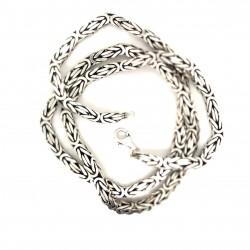 Řetízek stříbrný - Královský vzor 5 hranatý