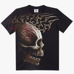 T-shirts XXL - Lebka červený ornament