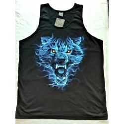 T-shirts Nátělník - Modrý vlk