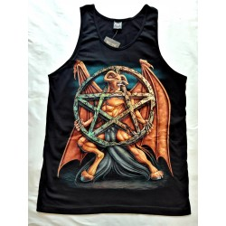 T-shirts - Nátělník - Satan s pentagramem