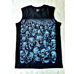 T-shirts Bez rukávu - Modré lebky