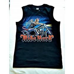 Tričko bez rukávu - Ďábel na chopperu