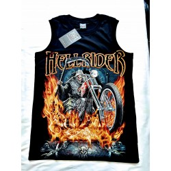 Tričko bez rukávu - Hell rider