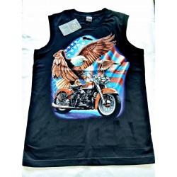 Tričko bez rukávu - Orli nad Harleyem