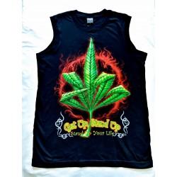 Tričko bez rukávu - Tráva v plamenech